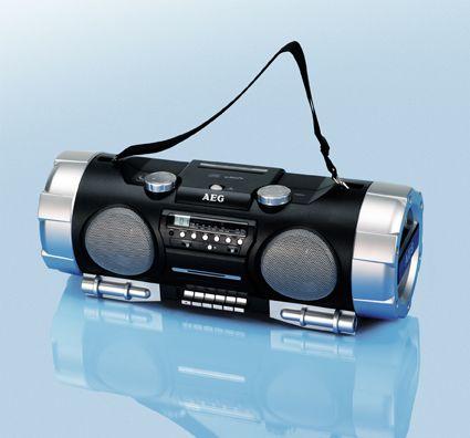 aeg ghetto blaster cd player radio kassette ghettoblaster. Black Bedroom Furniture Sets. Home Design Ideas