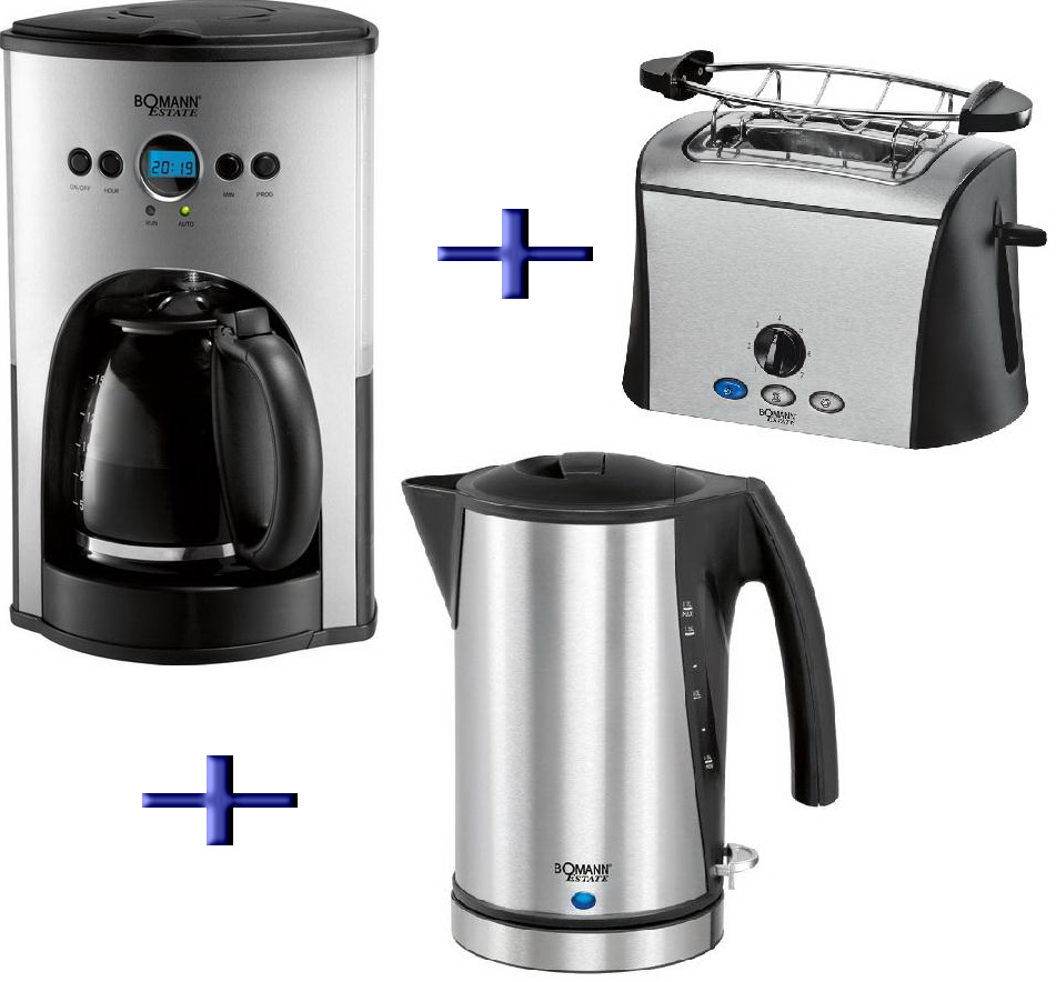 bomann 3in1 kaffeemaschine toaster wasserkocher estate ebay. Black Bedroom Furniture Sets. Home Design Ideas